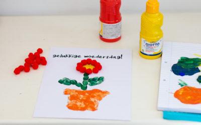 Pssst pappas … Moedersdag DIY 1 – Blompot & pom-poms